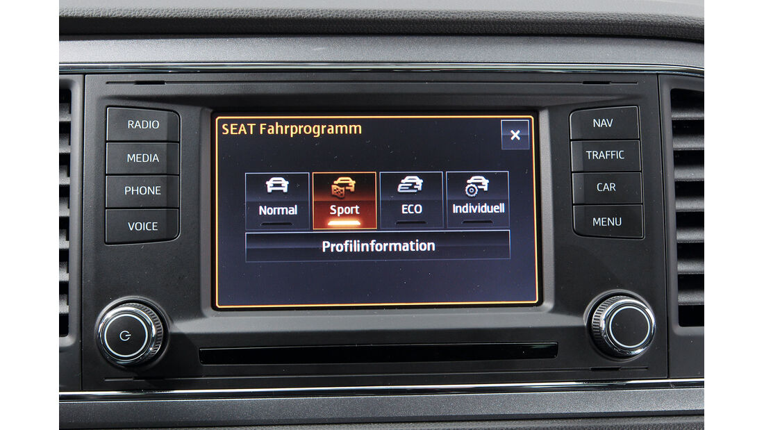 Seat León 1.4 TSI, Display, Bordcomputer