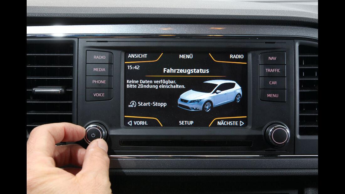 Seat León 1.4 TSI FR, Bildschirm, Display