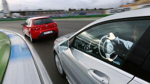 Seat León 1.4 TSI FR, Mercedes A 200 AMG Sport, Seitenlinie