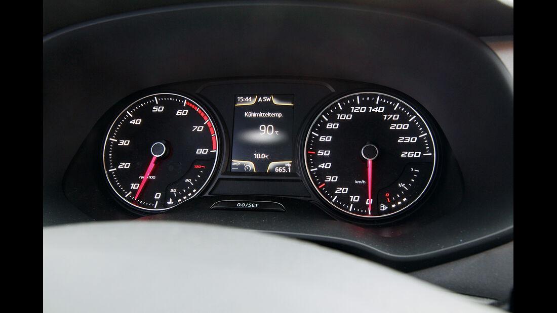 Seat León 1.4 TSI FR, Rundinstrumente