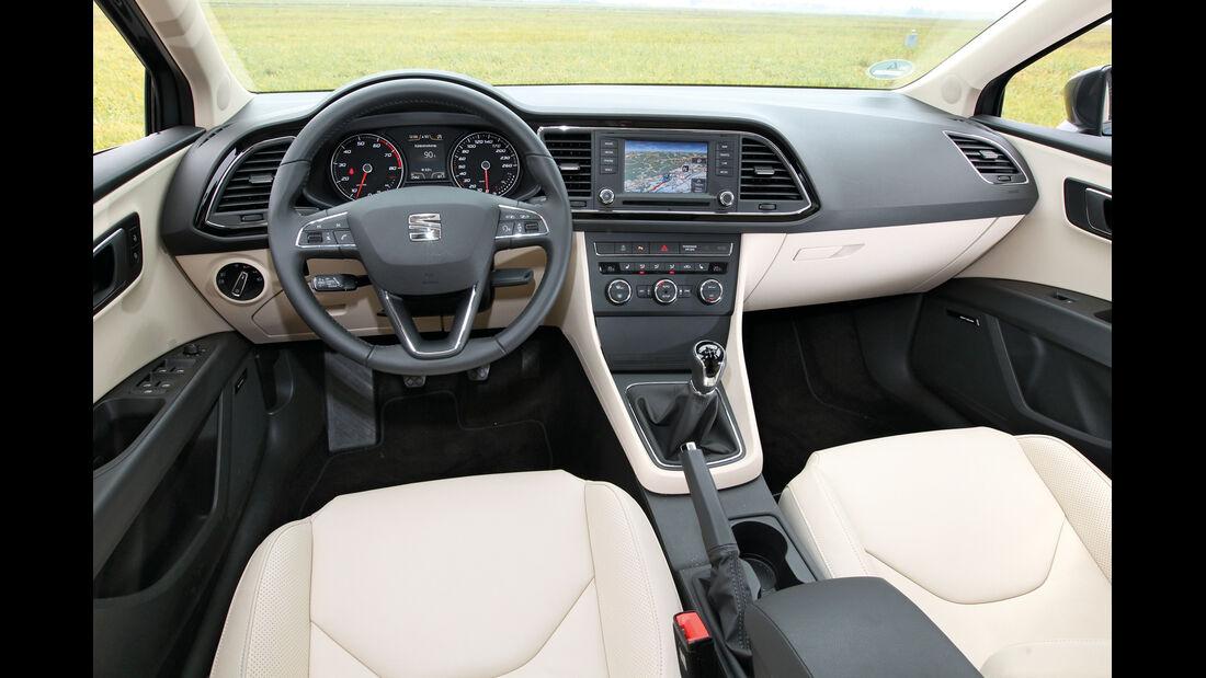Seat León 1.4 TSI, Lenkrad, Cockpit