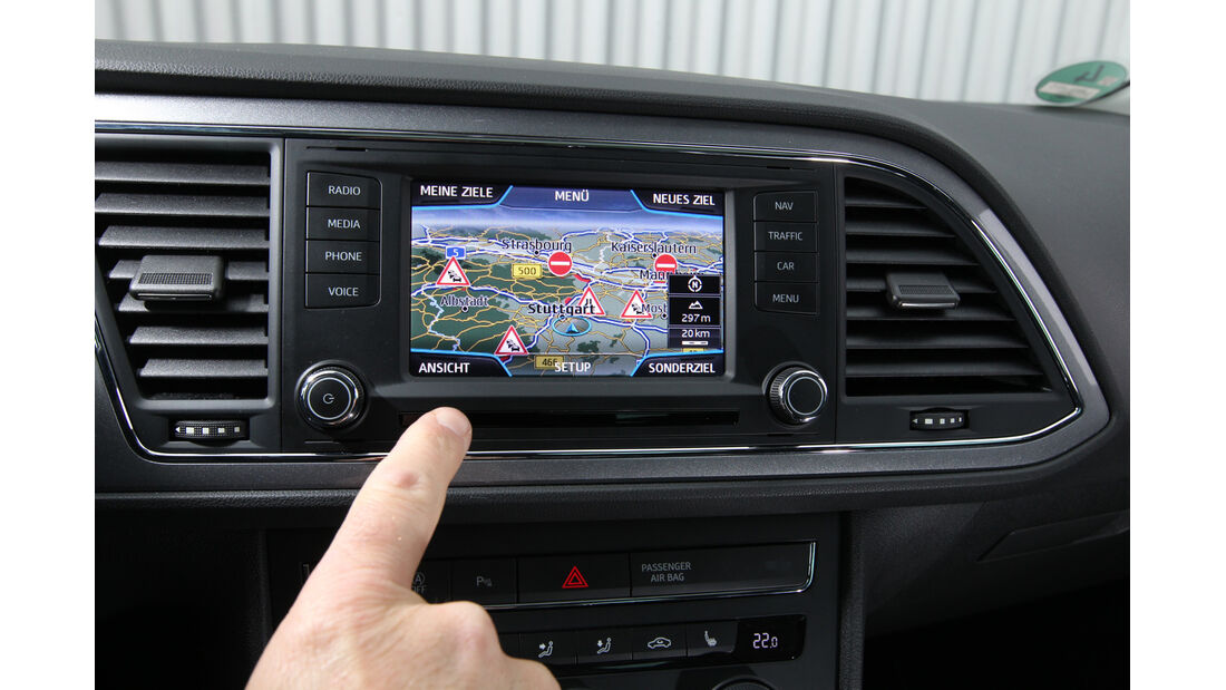 Seat León 1.4 TSI, Navi, Display