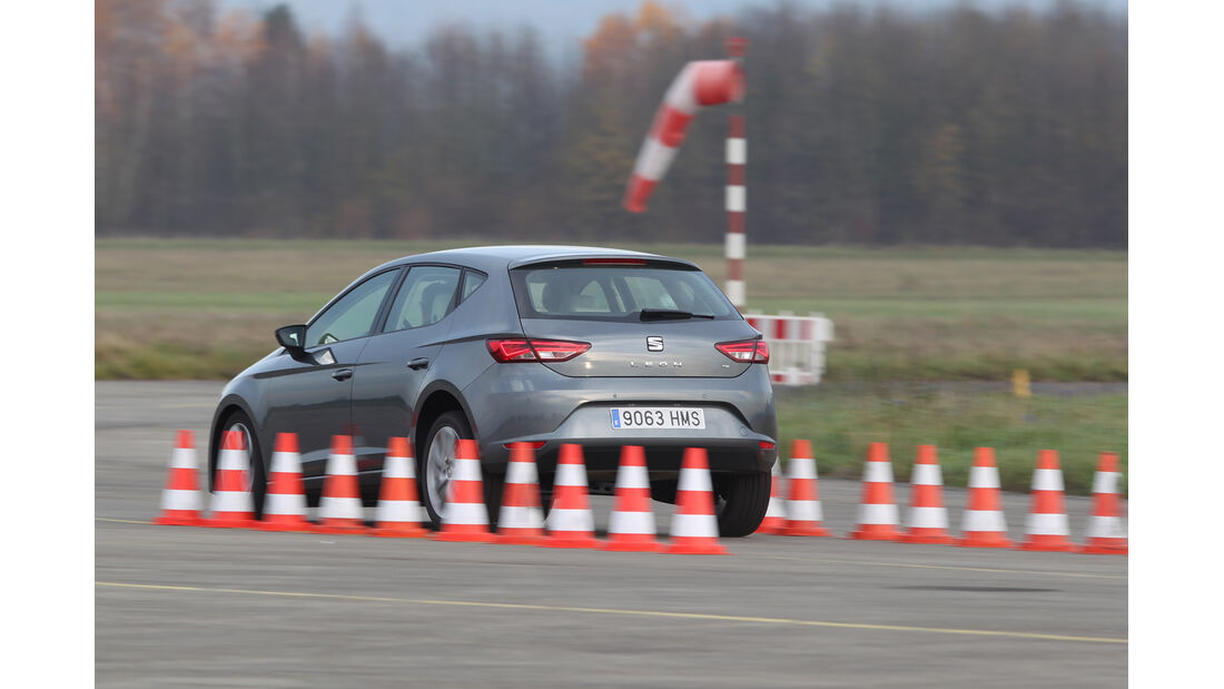 Seat León 1.4 TSI, Seitenansicht, Bremstest