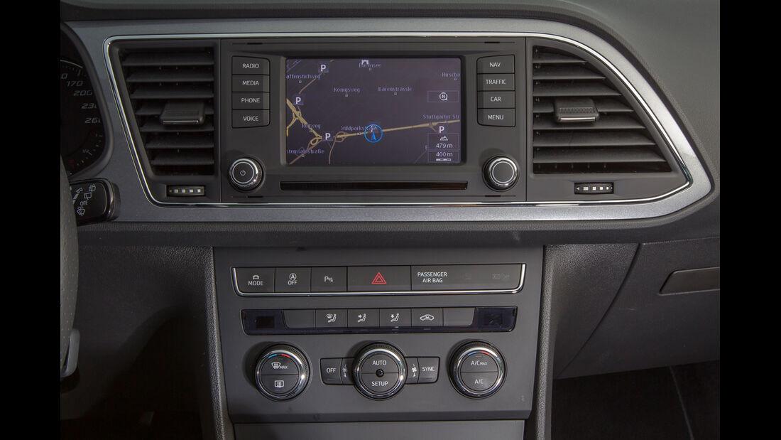 Seat León SC 1.8 TSI FR, Navi, Mittelkonsole