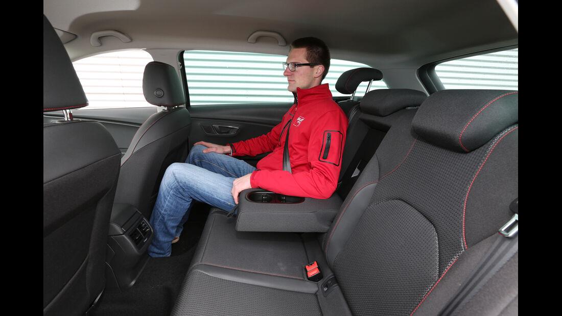 Seat León ST 1.4 TSI, Fondsitz, Beinfreiheit