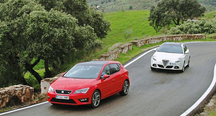 Seat Leon 2.0 TDI, Alfa Romeo Giulietta 2.0 JTDM, Frontansicht