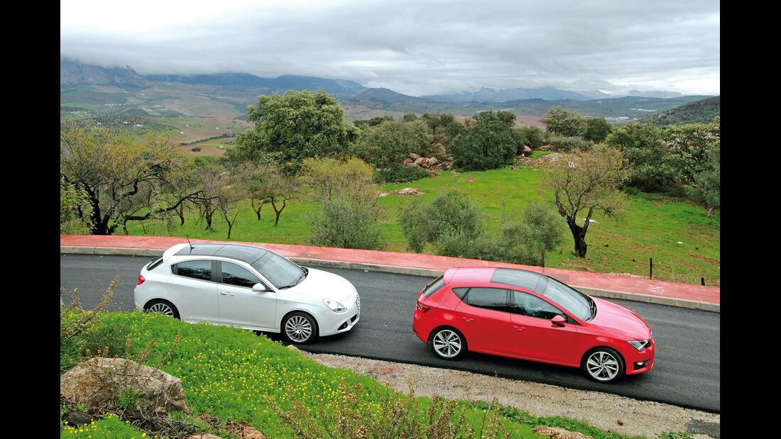 Seat Leon 2.0 TDI, Alfa Romeo Giulietta 2.0 JTDM, Seitenansicht