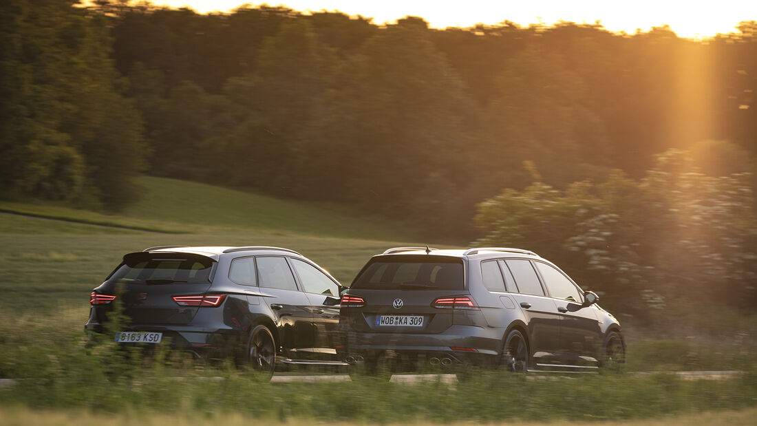 Seat Leon Cupra R ST 4Drive, VW Golf R Variant 4Motion, spa_2019_09, Vergleichstest