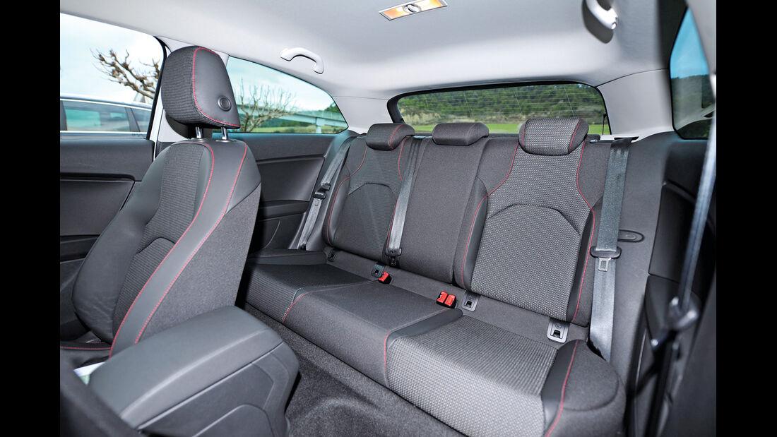 Seat Leon SC, Rücksitz, Rückbank