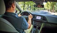 Seat Leon ST 1.6 TDI 4Drive, Cockpit, Fahrersicht