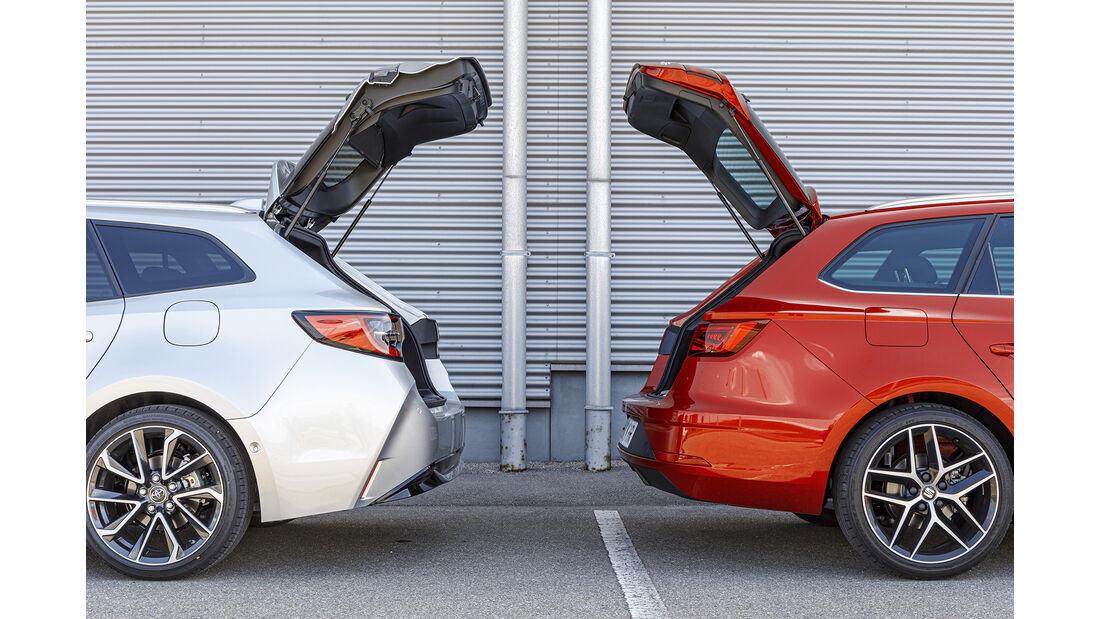Seat Leon ST, Toyota Corolla Touring Sports, Exterieur