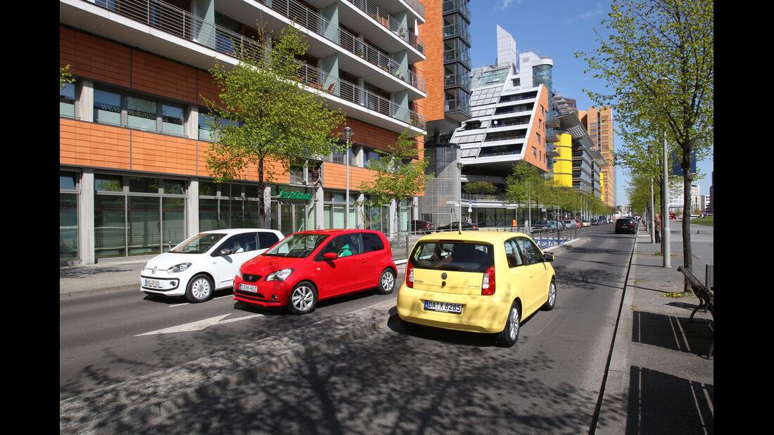 Seat Mii, Skoda Citigo, VW Up, Stadtflitzer