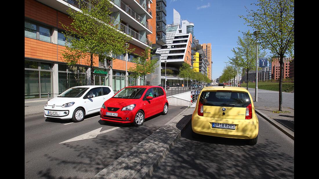 Seat Mii, Skoda Citigo, VW Up White