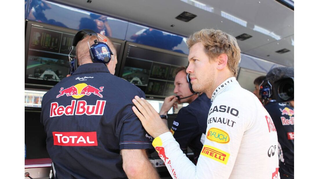 Sebastian Vettel  Adrian Newey - Formel 1 - GP Europa - 24. Juni 2012