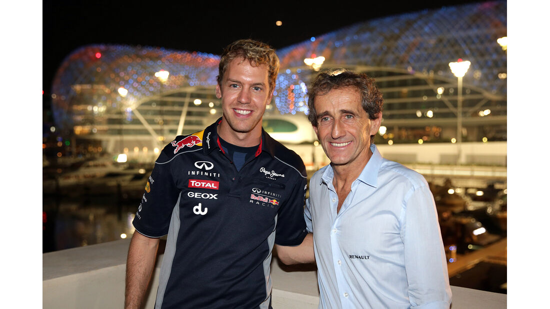 Sebastian Vettel - Alain Prost - Formel 1 - GP Abu Dhabi - 02. November 2013
