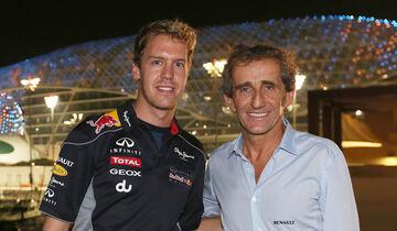 Sebastian Vettel & Alain Prost - GP Abu Dhabi 2013
