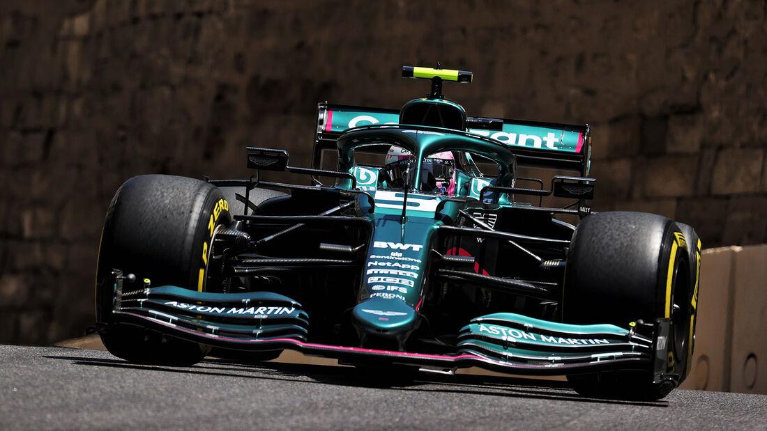 Sebastian Vettel - Aston Martin - Formel 1 - GP Aserbaidschan - Baku - Freitag - 4.6.2021
