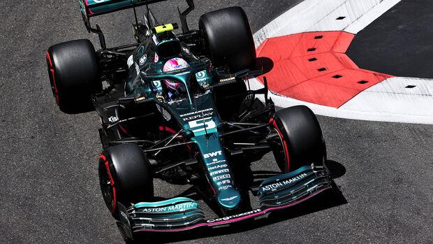 Sebastian Vettel - Aston Martin - Formel 1 - GP Aserbaidschan - Baku - Samstag - 5.6.2021