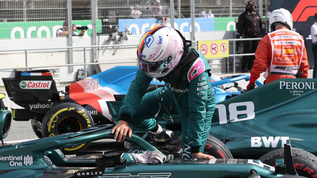 Sebastian Vettel - Aston Martin - Formel 1 - GP Spanien 2021 - Barcelona - Rennen