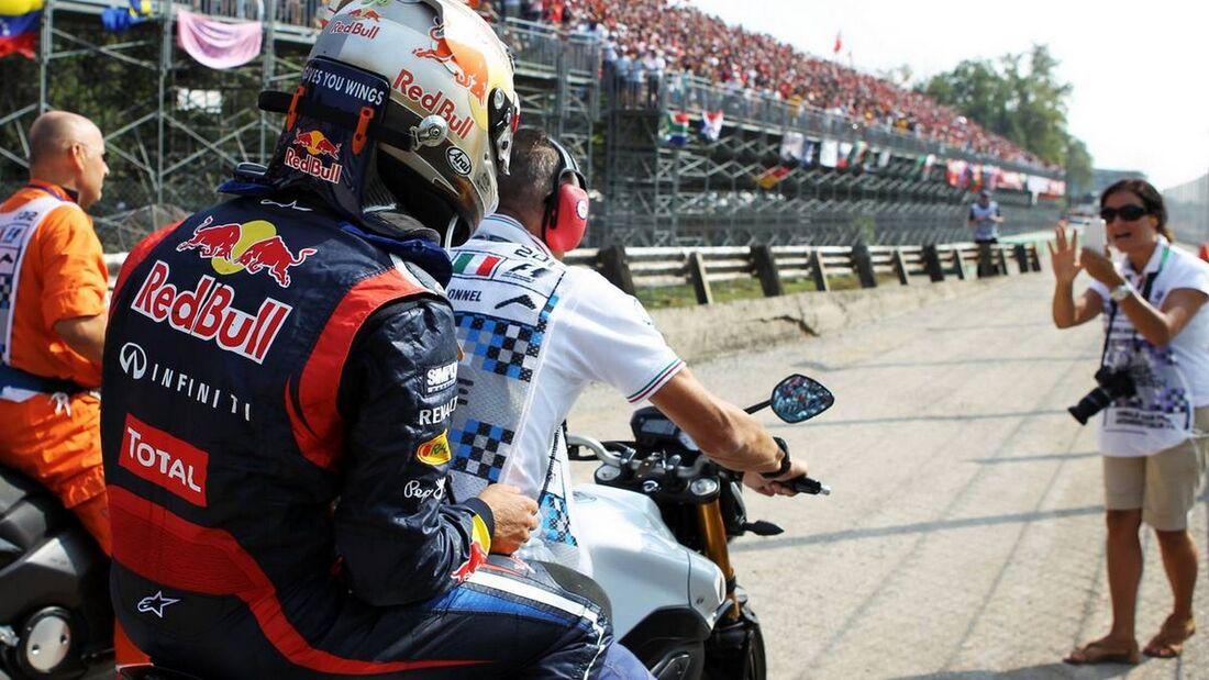 Sebastian Vettel Ausfall - Formel 1 - GP Italien - 09. September 2012