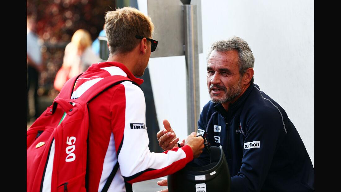 Sebastian Vettel & Beat Zehnder - Formel 1 - GP Belgien - Spa-Francorchamps - 21. August 2015