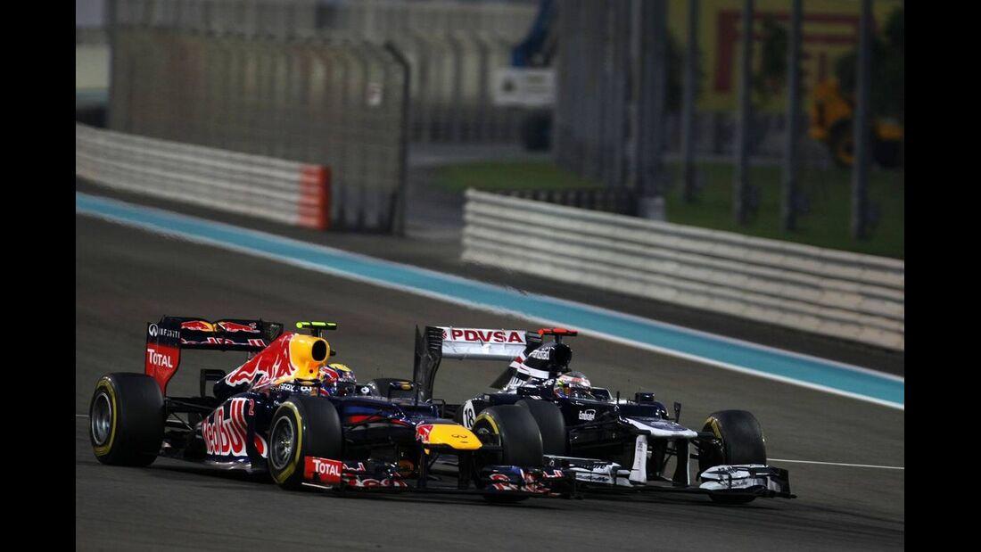 Sebastian Vettel Bruno Senna - Formel 1 - GP Abu Dhabi - 04. November 2012