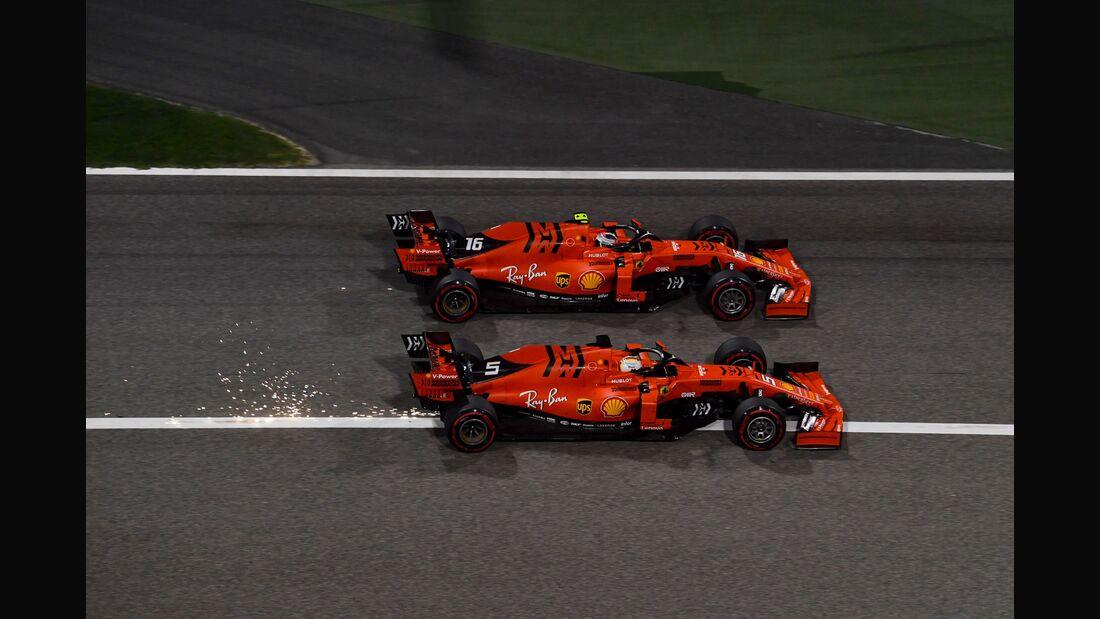 Sebastian Vettel - Charles Leclerc - Ferrari - Formel 1 - GP Bahrain - 31. März 2019