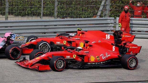 Sebastian Vettel - Charles Leclerc - Ferrari - GP Emilia-Romagna 2020 - Imola