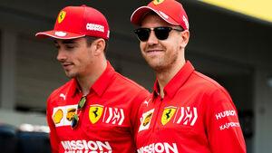 Sebastian Vettel - Charles Leclerc - Ferrari - GP Japan 2019 - Suzuka