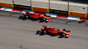 Sebastian Vettel - Charles Leclerc - Ferrari - GP Russland 2019 - Sotschi - Rennen