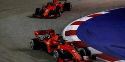 Sebastian Vettel - Charles Leclerc - Ferrari - GP Singapur 2019