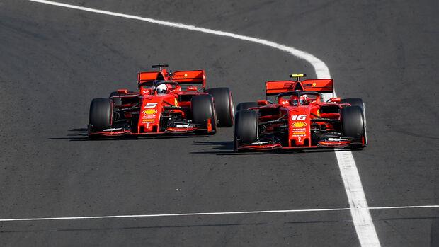 Sebastian Vettel - Charles Leclerc - Ferrari - GP Ungarn 2019 - Budapest
