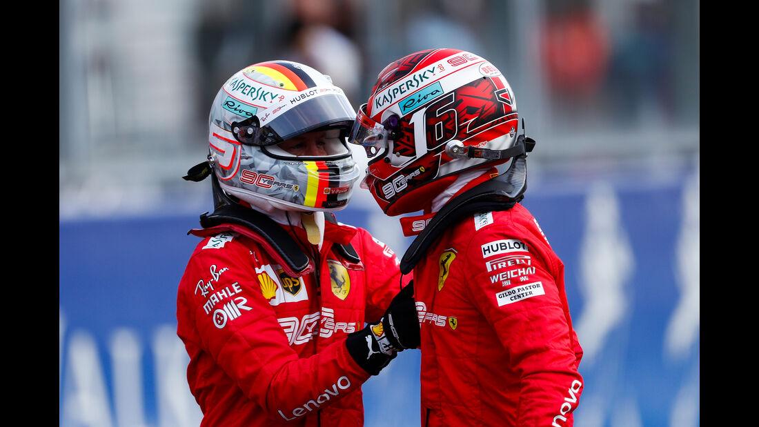 Sebastian Vettel & Charles Leclerc - GP Belgien 2019