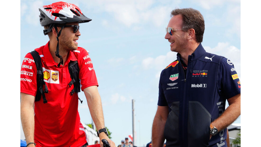 Sebastian Vettel - Christian Horner - GP Kanada 2018