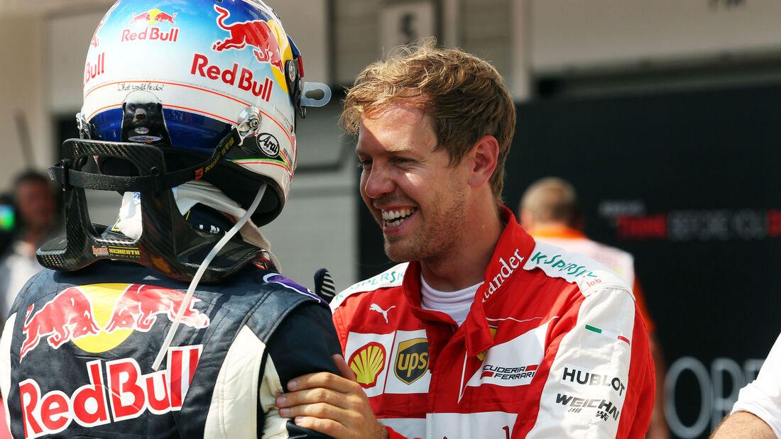 Sebastian Vettel - Daniel Ricciardo - GP Ungarn - Qualifying - Samstag - 25.7.2015