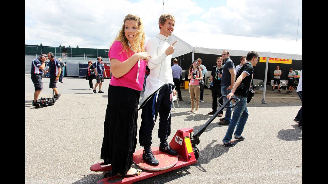 Sebastian Vettel F1 Fun Pics 2012
