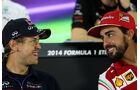 Sebastian Vettel & Fernando Alonso - Formel 1 - GP Abu Dhabi - 20. November 2014