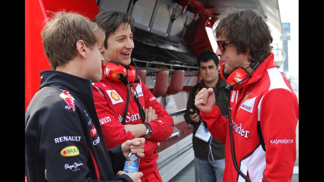 Sebastian Vettel - Fernando Alonso - Formel 1-Test Barcelona - 3. März 2012