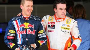 Sebastian Vettel & Fernando Alonso