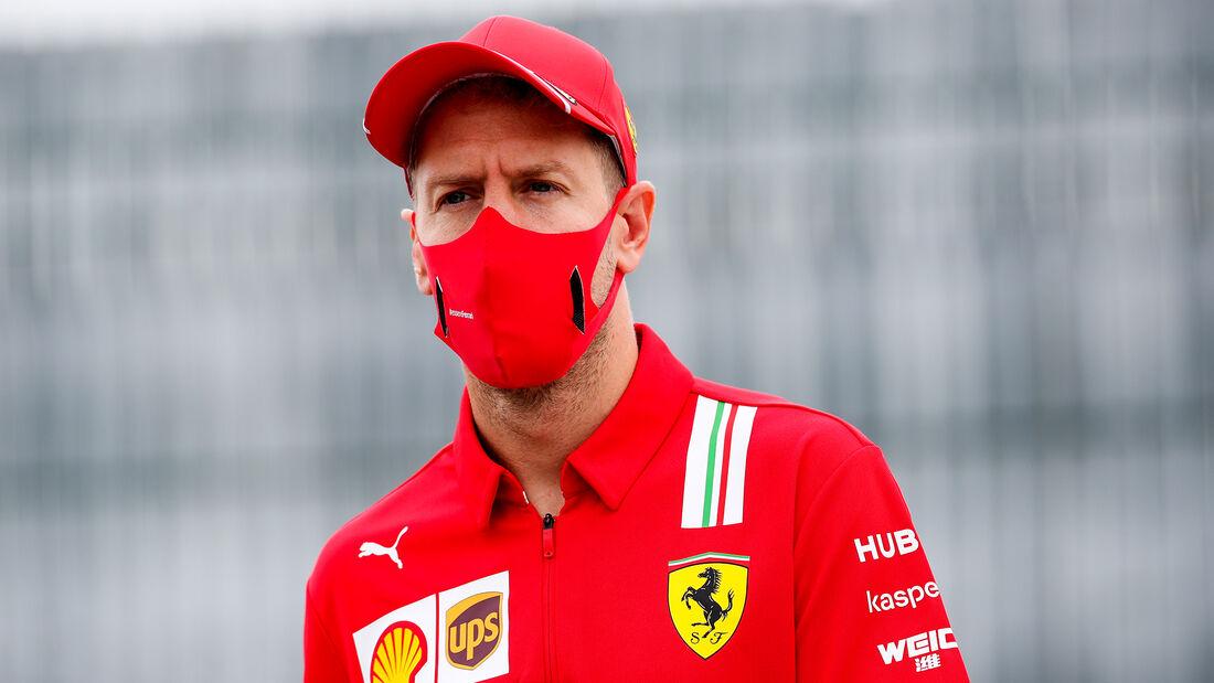 Sebastian Vettel - Ferrari - 70 Jahre F1 GP - Silverstone - Formel 1 - 6. August 2020