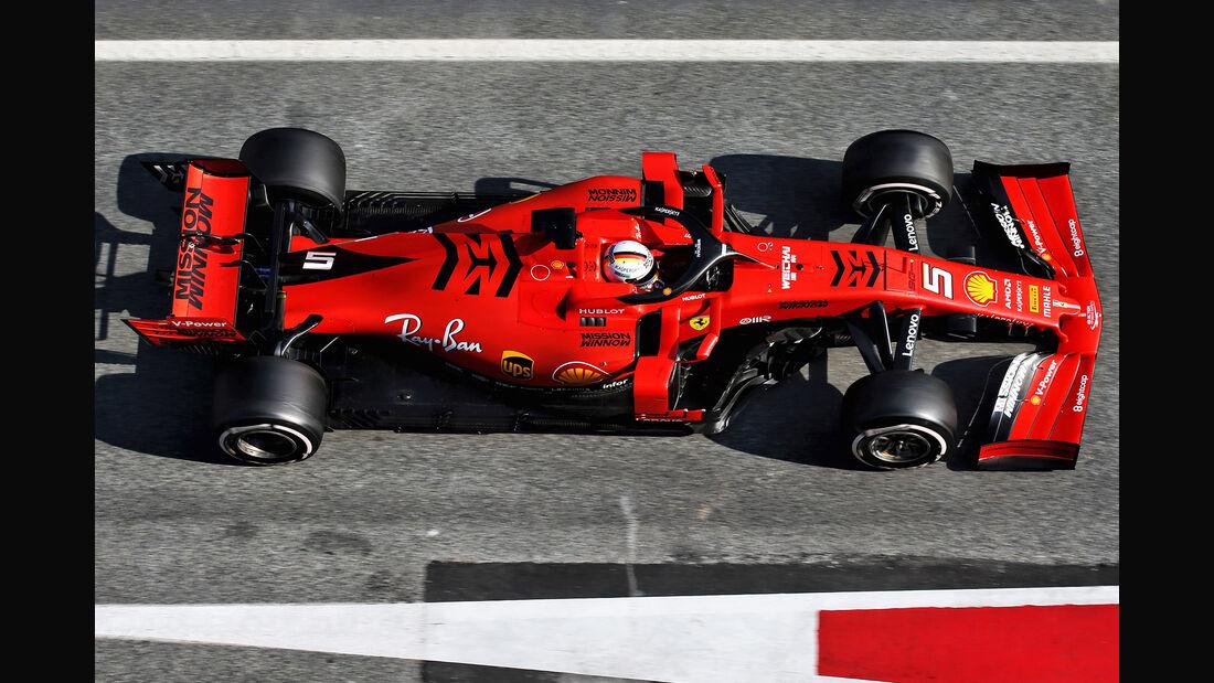 Sebastian Vettel - Ferrari - Barcelona - F1-Test - 01. März 2019