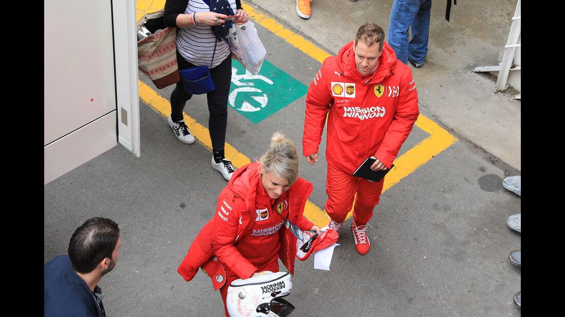 Sebastian Vettel - Ferrari - Barcelona - F1-Test - 19. Februar 2019
