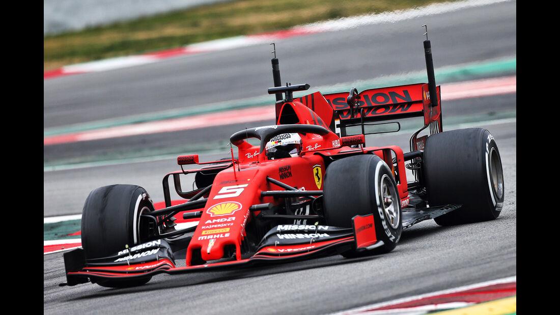 Sebastian Vettel - Ferrari - Barcelona - F1-Test - 20. Februar 2019