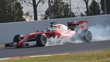 Sebastian Vettel - Ferrari - Barcelona - F1-Test - 2016