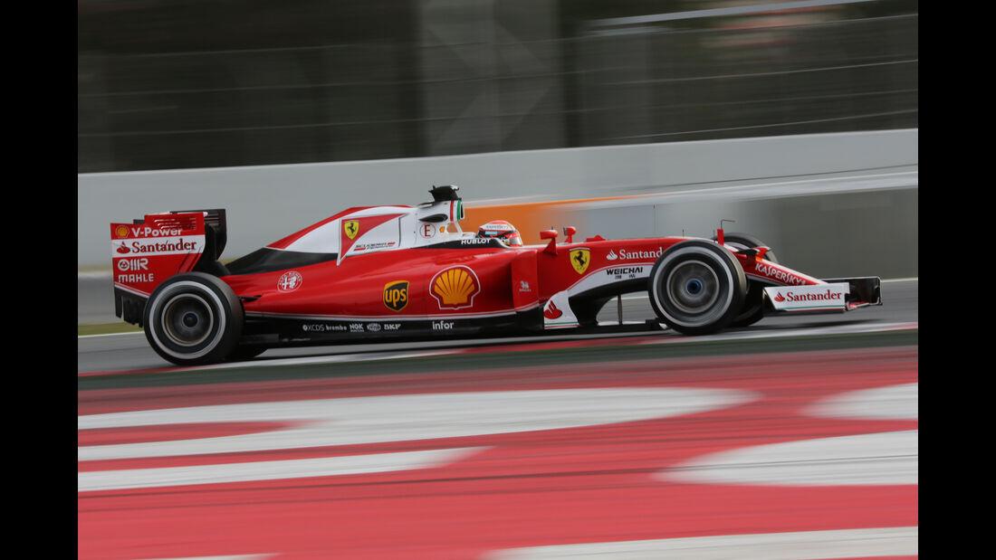 Sebastian Vettel - Ferrari - Barcelona - Formel 1-Test - 1. März 2016