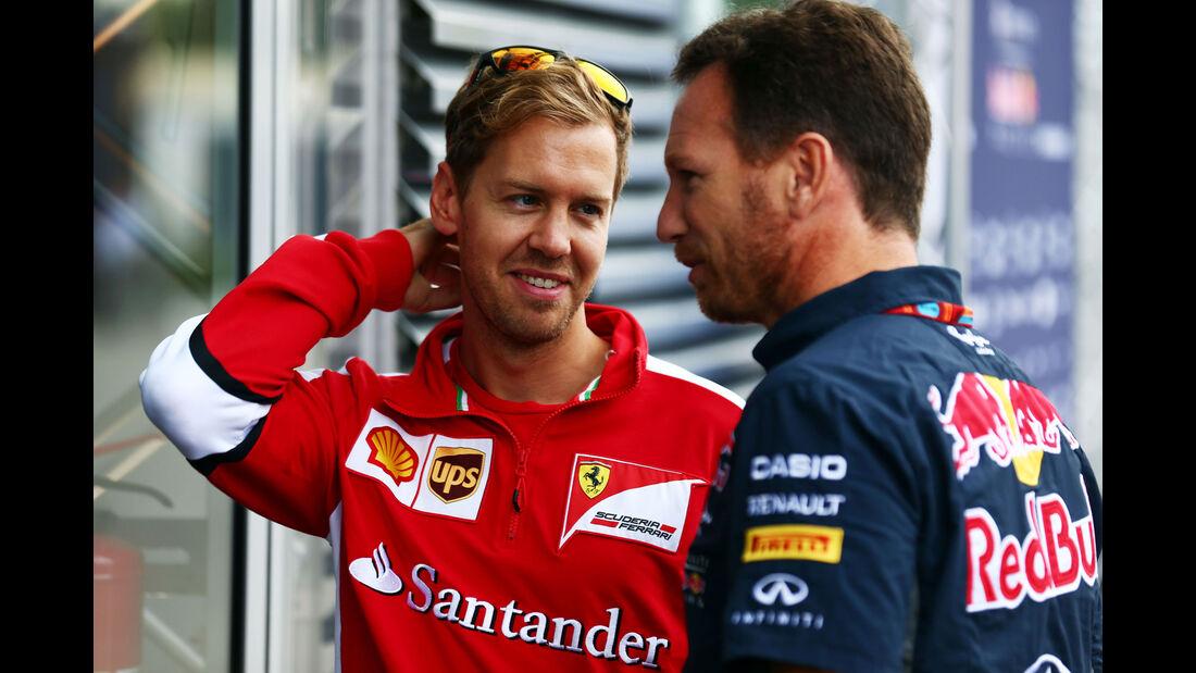 Sebastian Vettel - Ferrari - Christian Horner - Red Bull - GP Italien - Monza - Freitag - 4.9.2015
