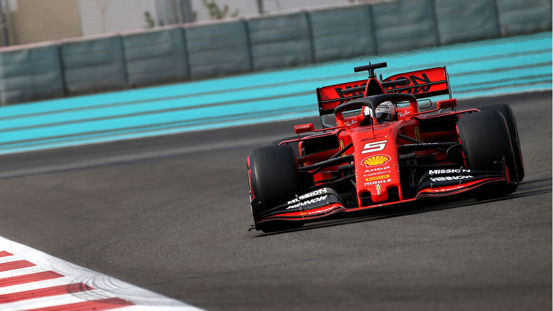 Sebastian Vettel - Ferrari - F1-Test - Abu Dhabi - 3. Dezember 2019