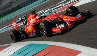 Sebastian Vettel - Ferrari - F1 Test - Abu Dhabi - Dienstag - 1.12.2015