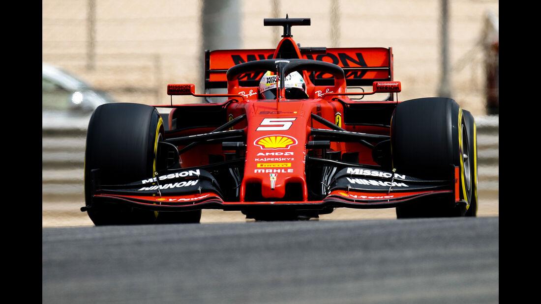 Sebastian Vettel - Ferrari - F1-Test Bahrain - 3. April 2019