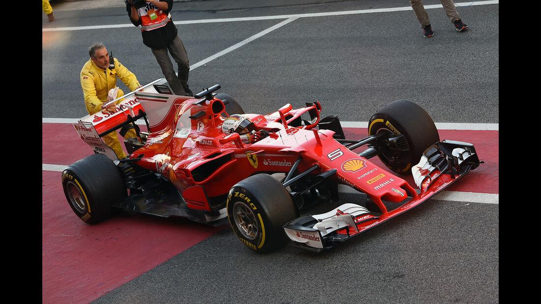 Sebastian Vettel - Ferrari - F1-Test - Barcelona - 2017